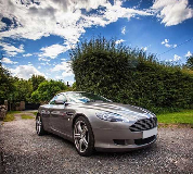 Aston Martin DB9 Hire in Leicester Racecourse