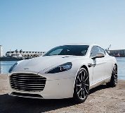 Aston Martin Rapide Hire in Bangor on Dee Racecourse