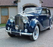 Blue Baron - Rolls Royce Silver Wraith Hire in Cartmel Racecourse