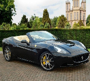 Ferrari California Hire in Nottingham Racecourse