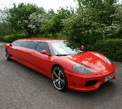 Ferrari Limo in Epsom Downs Racecourse