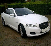 Jaguar XJL in Salisbury Racecourse