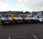 Jeep Limos and 4x4 Limos in Goodwood Racecourse