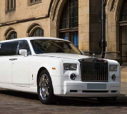 Rolls Royce Phantom Limo in Bangor on Dee Racecourse