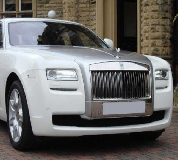 Rolls Royce Ghost - White Hire in Bath Racecourse