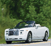 Rolls Royce Phantom Drophead Coupe Hire in Haydock Park Racecourse