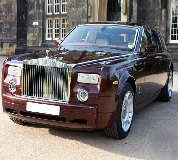 Rolls Royce Phantom - Royal Burgundy Hire in Luton Airport
