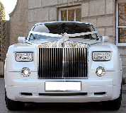 Rolls Royce Phantom - White hire  in Leicester Racecourse